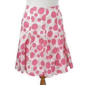 Cato Pink Polkadot Godet Skirt